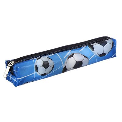 583-145 Футбол Пенал мягкий квадратный 19,2x3,2x3,2см, с цветной печатью, 250мкр, ПВХ