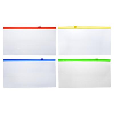 526-522 Папка-конверт на молнии 11x22 см, прозрачная