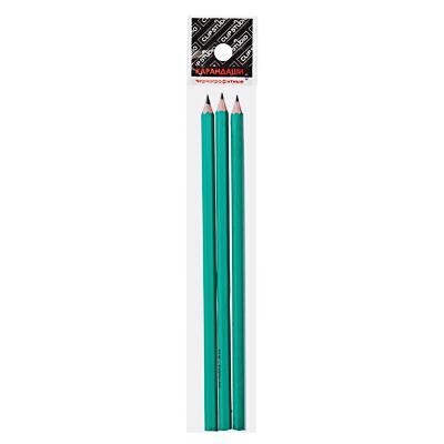 525-116 Карандаши чернографитные ClipStudio, 3 шт., зеленый корпус