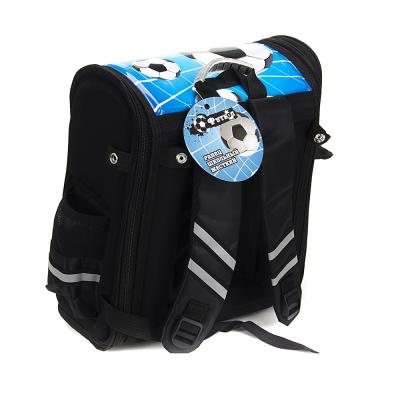 583-195 Футбол Ранец школьный 36x27x16см, жесткий, разборный, 1отд. на молнии, 3 кармана, ручка, ножки