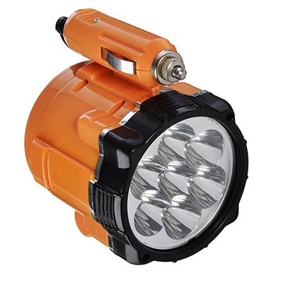 Фонарь 7 LED, 5Вт, от прикуривателя 12В, магнит