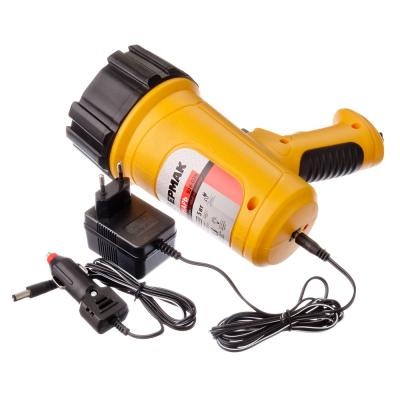 928-029 ЕРМАК Фонарь аккумуляторный, 5Вт, 1LED, заряд от прикур 12в + 220в, литиев.батарея