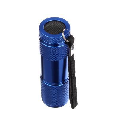 632-029 ЕРМАК Фонарик, 9LED, алюминий, 2,5x9см, питание от 3AAA (в комплект не входят), синий