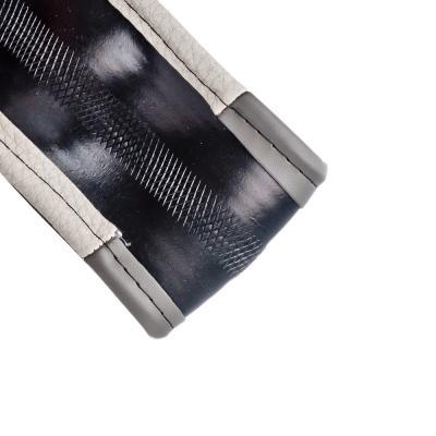 708-087 NEW GALAXY Оплетка руля, экокожа, вставки из под нубук, черный/серый, разм. (М)