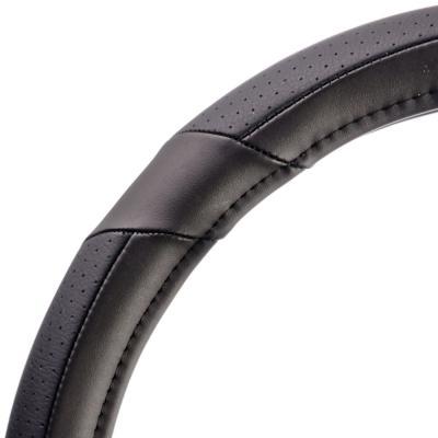 708-091 NEW GALAXY Оплетка руля, экокожа, вставки экокожа, черный, разм. (М)
