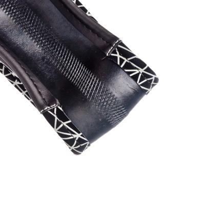 708-094 NEW GALAXY Оплетка руля, экокожа под нубук+ вставки, черный, разм. (М)