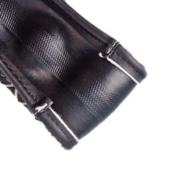 708-099 NEW GALAXY Оплетка руля, экокожа + рельефные вставки квадрат, черный, разм. (М)