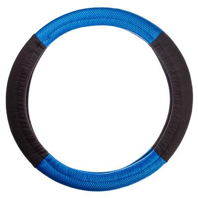 708-101 NEW GALAXY Оплетка руля, бескаркасная, черный/синий, разм. (М)