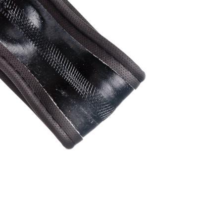708-105 NEW GALAXY Оплетка руля, перфорированная экокожа + белая прострочка, черный, разм. (М)