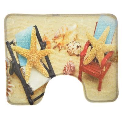 "462-612 VETTA Набор ковриков 2шт для ванной и туалета флис,1,2см, 50х80см+50х40см,""Морские звезды"""