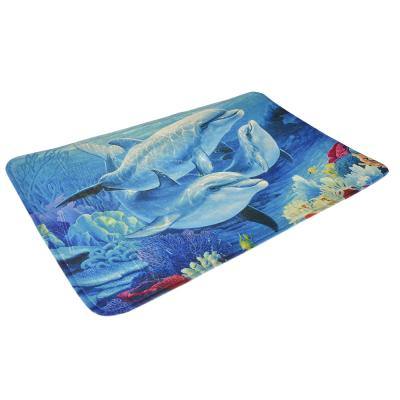 """462-619 VETTA Коврик для ванной микрофибра, 0,4см, 50х80см, """"Дельфины"""""""
