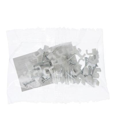 901-025 Скоба плоская пластиковая 4мм, 30шт