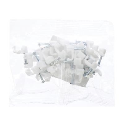 901-027 Скоба плоская пластиковая 6мм, 30шт