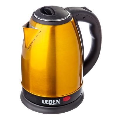 291-018 LEBEN Чайник электрический 1,8л, 1500Вт, нерж сталь, золотой