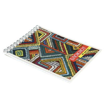 524-174 Блокнот А6 40 листов, в клетку, на спирали, обложка картон 235г/м2, 20 дизайнов ClipStudio