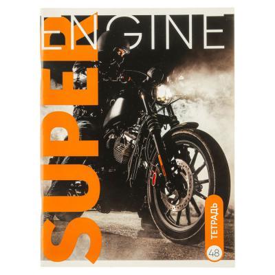524-195 Тетрадь общая ClipStudio А4 48 листов в клетку, 4 дизайнов