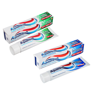 981-039 Зубная паста Аквафреш 3+ Освежающе-мятная/мягко-мятная,туба,100мл арт.71010/8007800