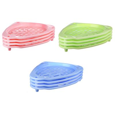 465-186 Этажерка напольная 4 ярусна, пластик, 38,5x38x70см, 3 цвета