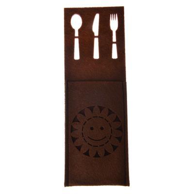 438-085 Чехол для столовых приборов, фетр, 25x9см, 3 дизайна