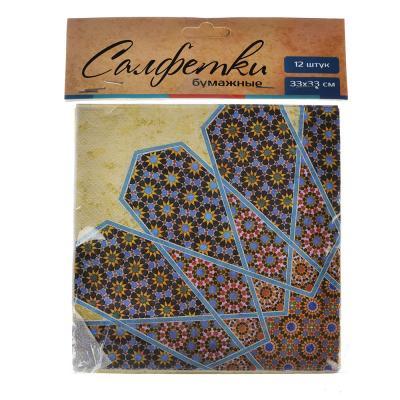 528-133 Марокко Салфетки бумажные, 12шт, 33х33см, GC Design