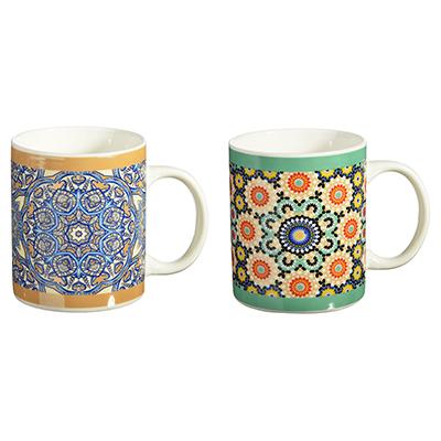 528-134 Марокко Кружка подарочная, керамика, 350мл, 2 дизайна, Дизайн GC