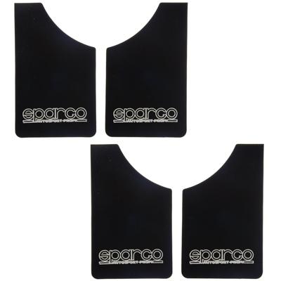 754-005 Брызговики плоские 4шт SPARGO, для легковых авто, черный