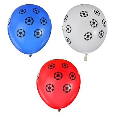 """528-158 Футбол Шары воздушные 10шт, 12"""", резина , GC Design"""