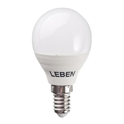 925-026 LEBEN Лампа светодиодная G45 5W, E14, 400lm 4200К