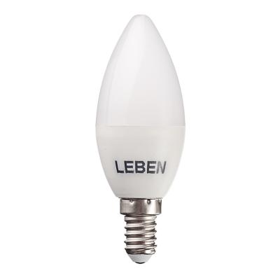 925-032 LEBEN Лампа светодиодная свеча С37 5W, E14, 400lm 4200К