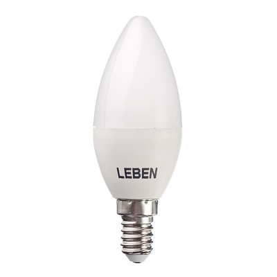 925-033 LEBEN Лампа светодиодная свеча С37 7W, E14, 560lm 4200К