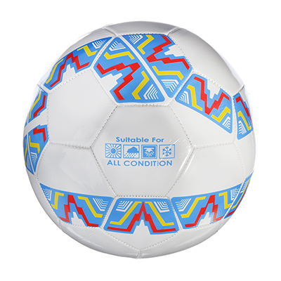 133-029 SILAPRO Мяч футбольный 2 сл, р.5, 22см, ПВХ, сине-белый