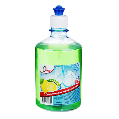 992-040 Средство для мытья посуды Бархат/Cline Эконом лимон, п/б 500г, Б-521