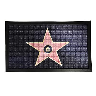 """466-291 VETTA Коврик придверный, резиновый с ворсом полиэстер, 45x75см, с принтом """"Звезда"""""""