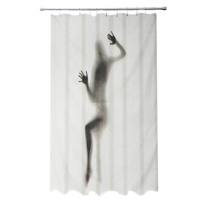 """461-461 VETTA Шторка для ванной, ткань полиэстер с утяжелит, 180x180см, """"Девушка-приведение"""", Дизайн GC"""