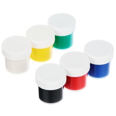 583-248 Гуашевые краски, 6 цветов, объем баночки, 10 мл