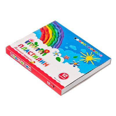583-252 Пластилин 12 цветов 240 грамм в картонном выдвижном пенале, восковая основа