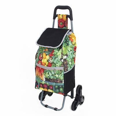 467-171 Тележка + сумка, грузоподъемность до 30кг, 600D полиэстер,91x44x28см,с 6 колесами,сумка 55x20x32см