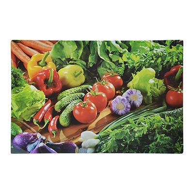 853-192 Доска разделочная стеклянная VETTA Овощное ассорти, 20х30х0,4 см