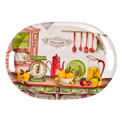 862-369 VETTA Итальянская кухня Поднос пластик, 38,5х27см, YL012415