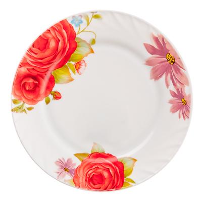818-977 MILLIMI Флора Тарелка десертная опаловое стекло 20см, HP80/6-K1408