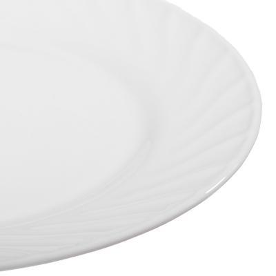 "818-005 Тарелка десертная, опаловое стекло, 20 см, MILLIMI ""Бьянко"""