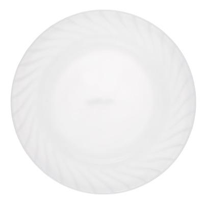 """818-007 Тарелка подстановочная, опаловое стекло, 23 см, MILLIMI """"Бьянко"""""""
