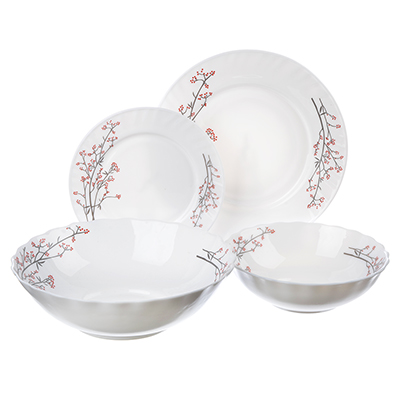 """818-118 Набор столовой посуды 19 предметов, опаловое стекло, MILLIMI """"Марисса"""""""