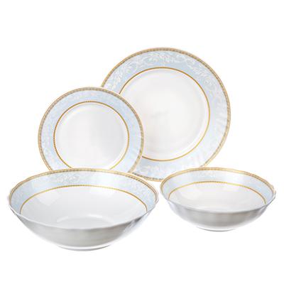 818-122 MILLIMI Кристина Набор столовой посуды, опаловое стекло, 19 пр., H19DT-16142C