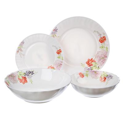 818-124 MILLIMI Кармина Набор столовой посуды, опаловое стекло, 19 пр., H19DT-14023