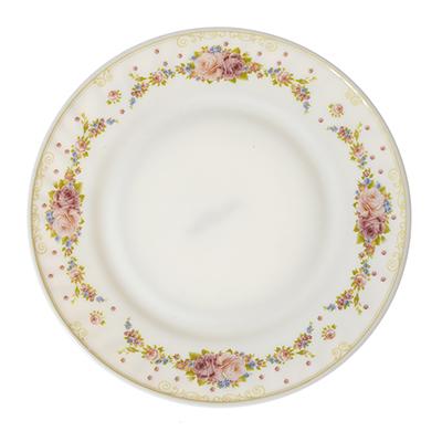 "818-285 Тарелка десертная, опаловое стекло, 20 см, MILLIMI ""Вероника"""