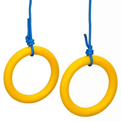 134-136 SILAPRO Кольца гимнастические пластиковые, d16,5cм, цветные