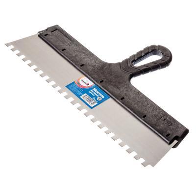 683-115 HEADMAN Шпатель фасадный 350 мм, зуб 8 мм, полированная сталь, спец.покрытие, пластмассовая ручка