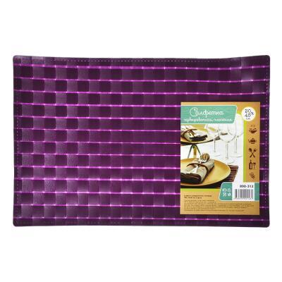 890-312 Салфетка сервировочная, плетеный ПВХ, 30x45см, 3 цвета