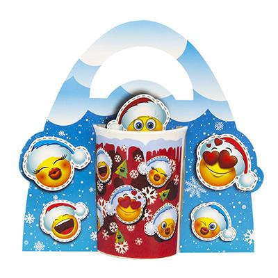 393-141 СНОУ БУМ Смайлики Кружка в подарочной упаковке, керамика, 350мл, Дизайн GC